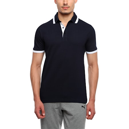 Tipping Men's Polo T-shirt, dark navy-white, small-IND