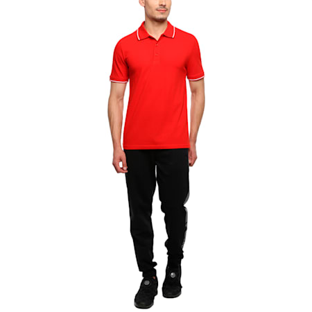Men s ESS Tipping Polo, Puma Red, small-IND
