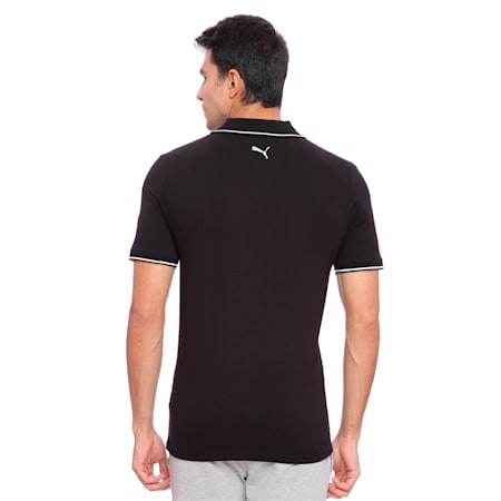 Men s ESS Tipping Polo, Cotton Black, small-IND