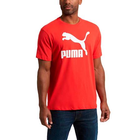 Camiseta Archive Life para hombre, Flame Scarlet-Puma White, pequeño