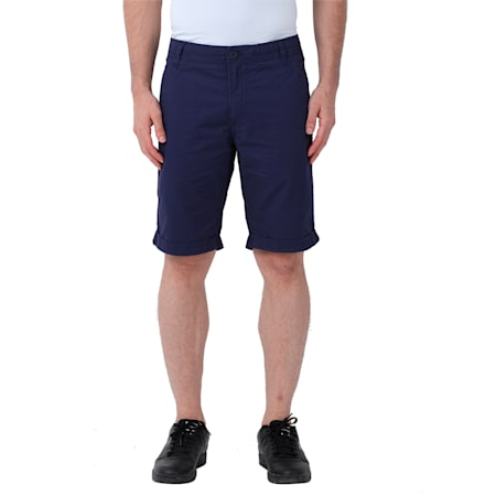 Men's Woven Chinos Shorts, peacoat, small-IND