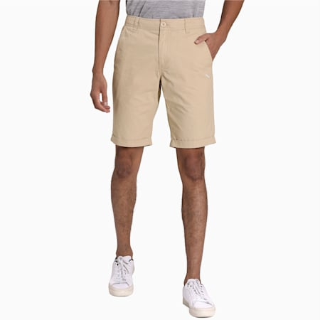 Men's Woven Chinos Shorts, pale khaki, small-IND