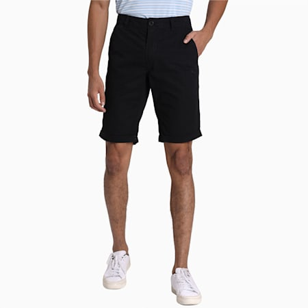 Men's Woven Chinos Shorts, Puma Black, small-IND