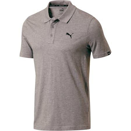Essential Men's Jersey Polo, Medium Gray Heather, small