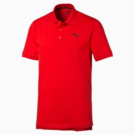 Men's Piqué Polo, Puma Red, small