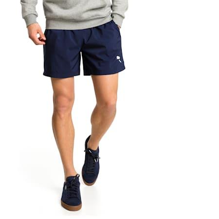 Active Men's Woven Shorts, Peacoat, small-GBR