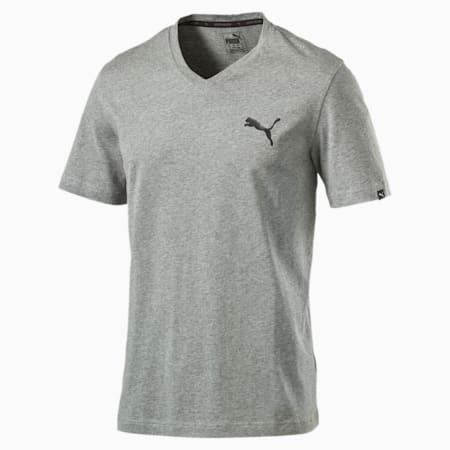 Iconic V-Neck T-Shirt, Medium Gray Heather, small