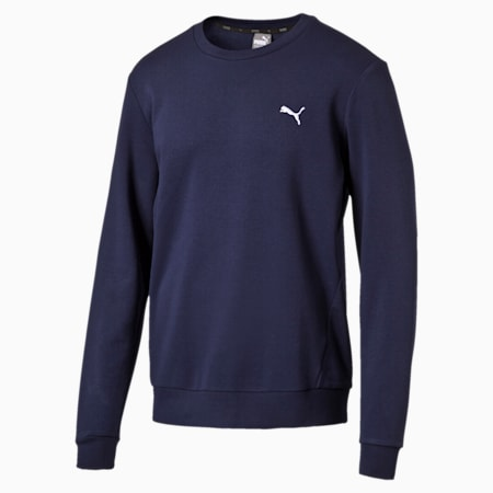 Men's Crew Sweater, Peacoat, small-SEA