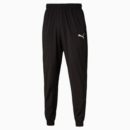 Active Men's Woven Pants, Puma Black, small-IND