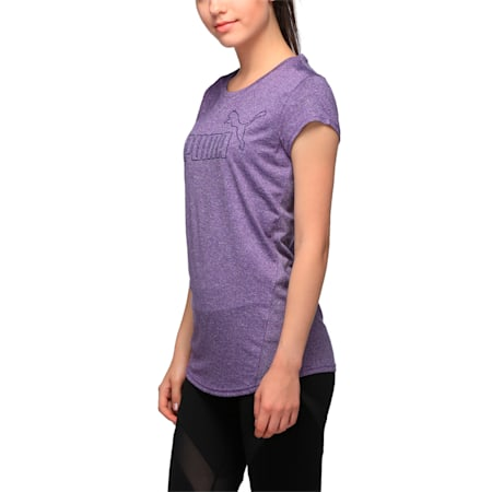 Active Women's No.1 Logo T-Shirt, ROYAL PURPLE Heather, small-IND