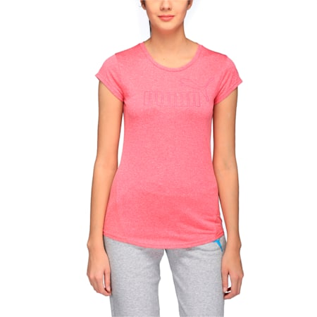 Active Women's No.1 Logo T-Shirt, KNOCKOUT PINK Heather, small-IND