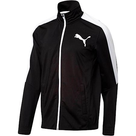 Contrast Men's Track Jacket, Puma Black-Puma White, small