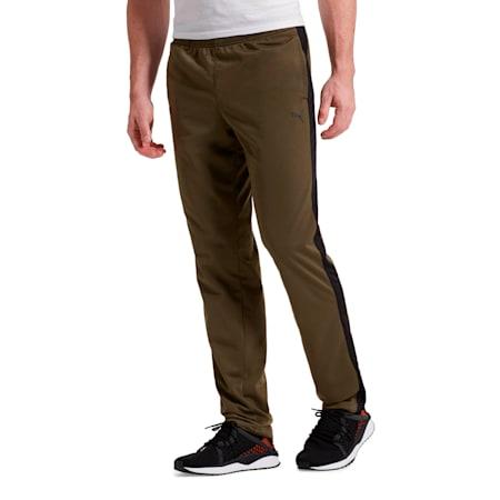 Contrast Men's Open Pants, Olive Night-Puma Black, small