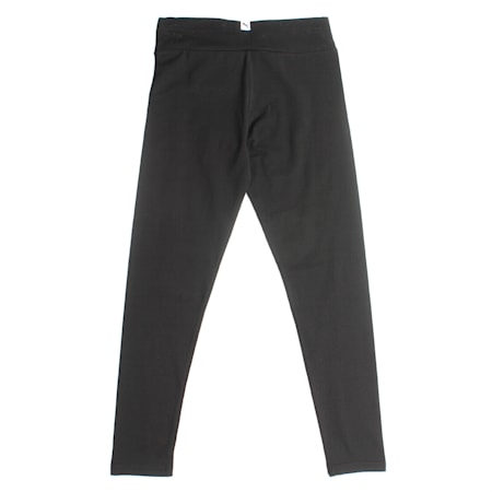 Girls' Sportstyle Leggings, Cotton Black, small-IND