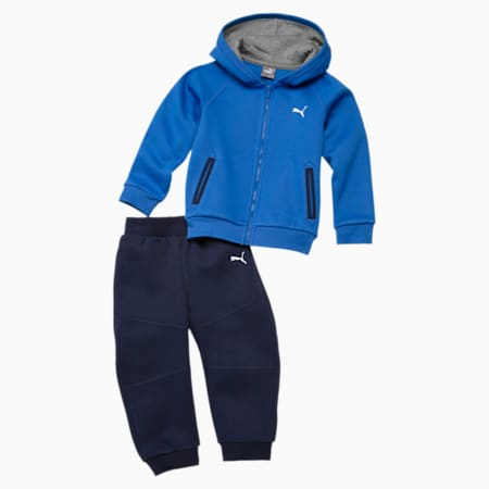 Hooded Babies' Jogger Set, strong blue, small