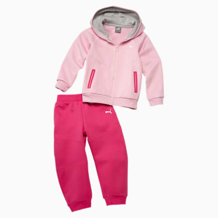 Hooded Babies' Jogger Set, orchid pink, small