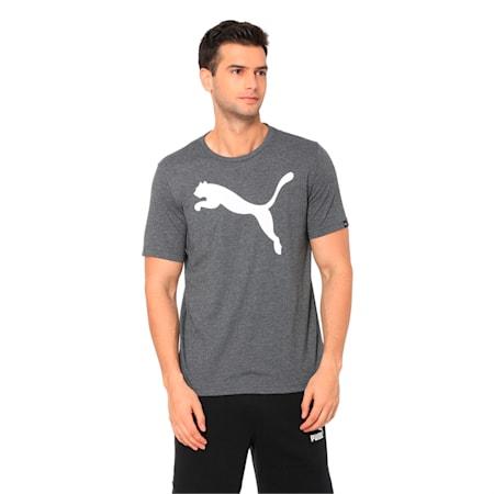 Men's Big Cat Heather T-Shirt, Puma Black Heather, small-IND