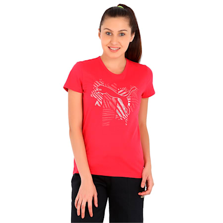 Cat Blink Tee, rose red, small-IND