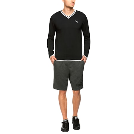 Solid L S Sweater, Puma Black-Puma White, small-IND