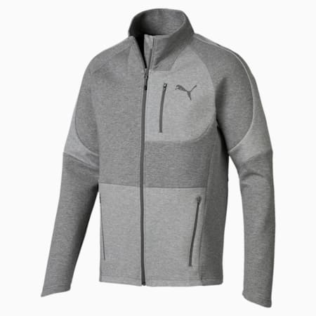 Evostripe Move Men's Jacket, Medium Gray Heather, small