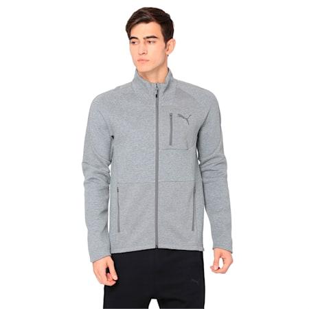 Evostripe Move Men's Jacket, Medium Gray Heather, small-IND