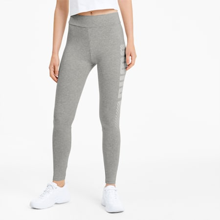 Essential Graphic Women's Leggings, Light Gray Heather, small