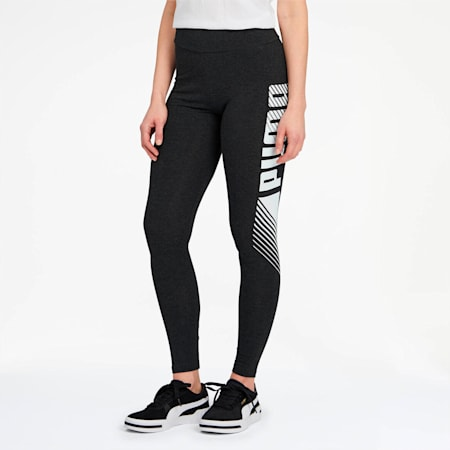Essential Graphic Women's Leggings, Dark Gray Heather, small