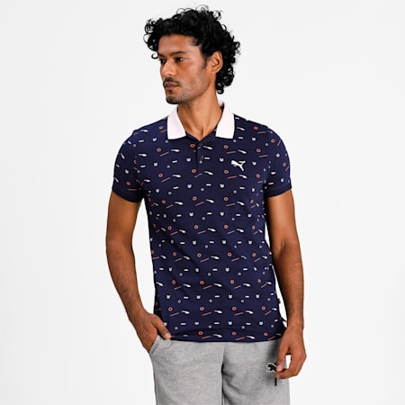 AOP Polo, Peacoat, small-IND
