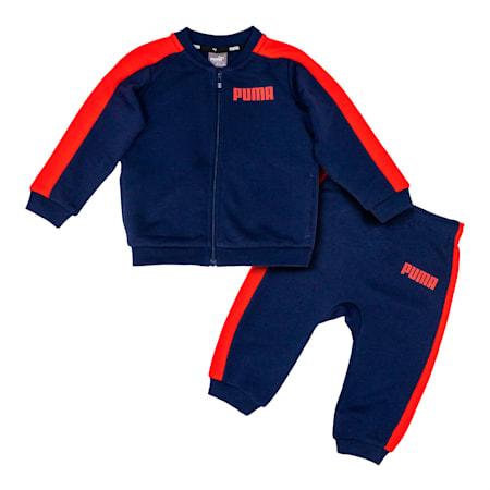 Contrast Babies' Jog Suit, Peacoat, small-SEA