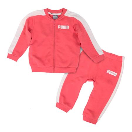 Contrast Babies' Jog Suit, Rapture Rose, small-SEA