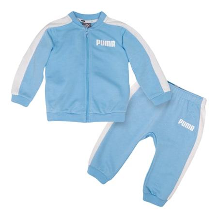 Contrast Babies' Jog Suit, CERULEAN, small-SEA