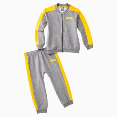 Contrast Babies' Jog Suit, Medium Gray Heather, small