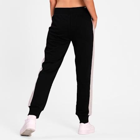 PUMA Women Contrast Training Pants, Cotton Black, small-IND