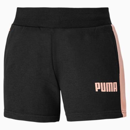 Contrast Damen Gestrickte Shorts, Puma Black, small