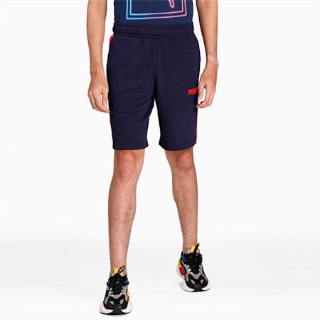 PUMA Contrast Sweat Shorts, Peacoat, small-IND