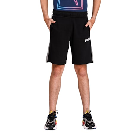 PUMA Contrast Sweat Shorts, Cotton Black, small-IND