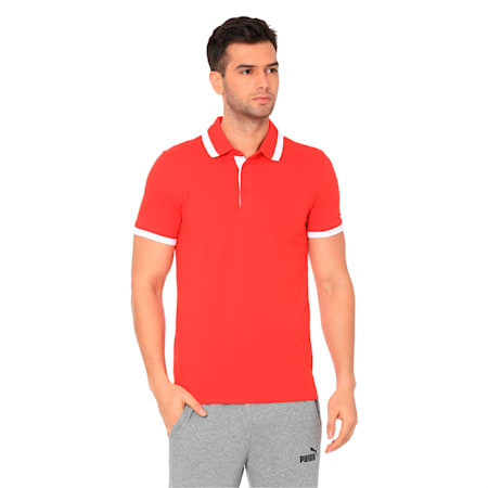 Tipping ESS Pique Men's PoloTee, Puma Red, small-IND