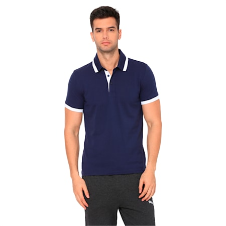 Tipping ESS Pique Men's PoloTee, Peacoat, small-IND