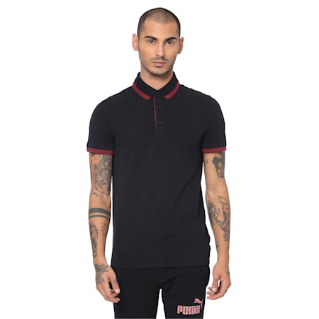 Tipping ESS Pique Men's PoloTee, Cotton Black, small-IND