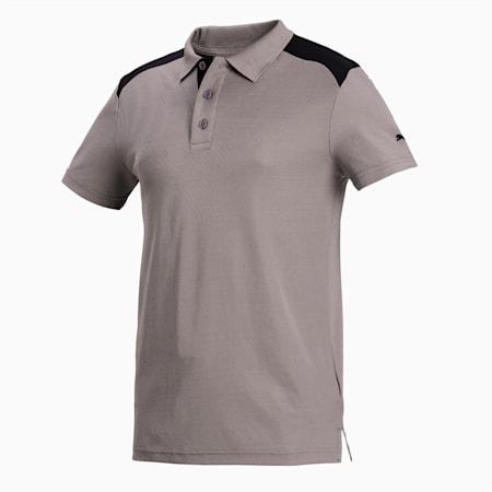 Men's Train Polo, Steel Gray-Puma Black, small-IND