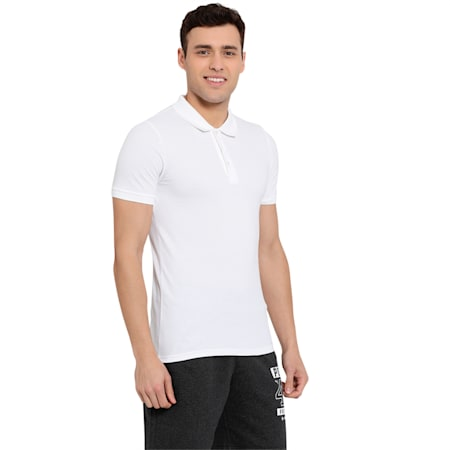 Men s Active ESS Polo T-Shirt, Puma White, small-IND