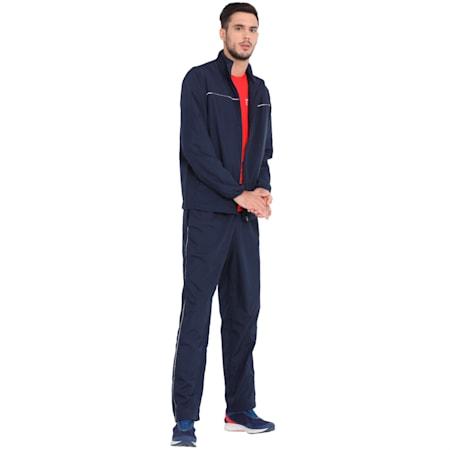 Men's Woven Track Jacket I, Peacoat, small-IND