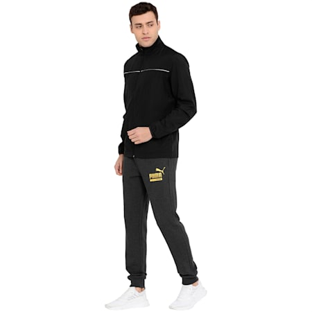 Men's Woven Track Jacket I, Puma Black, small-IND