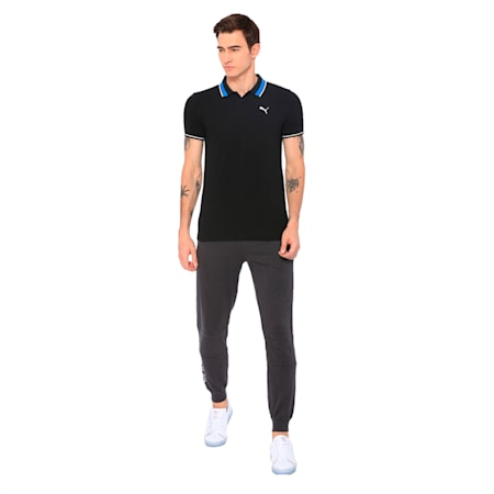 PUMA x Virat Kohli Men's Stylized Polo I, Puma Black, small-IND