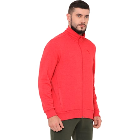 India Sweat Jacket, Ribbon Red Heather, small-IND