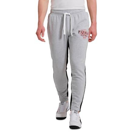 OG Men's Cuffed Pants, Puma Black-White logo, small