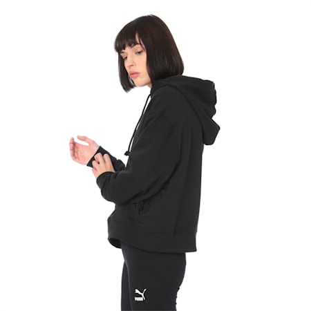 OG Cropped Hoodie Wmns, Puma Black, small-IND