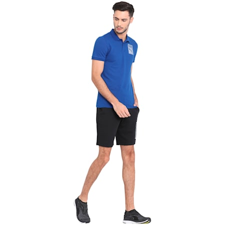 Mens Graphic Pique Polo IV, Sodalite Blue, small-IND