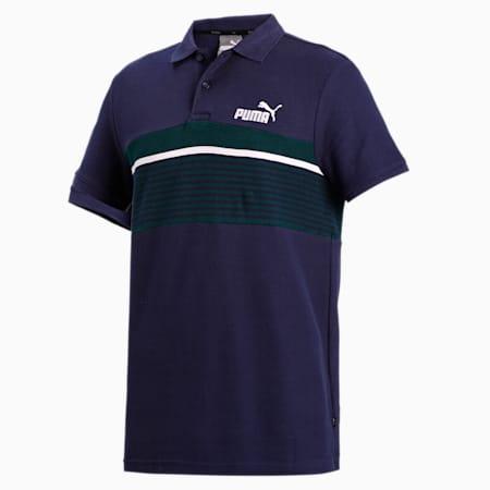 ESS+ Stripe Men's Polo, Peacoat, small-IND