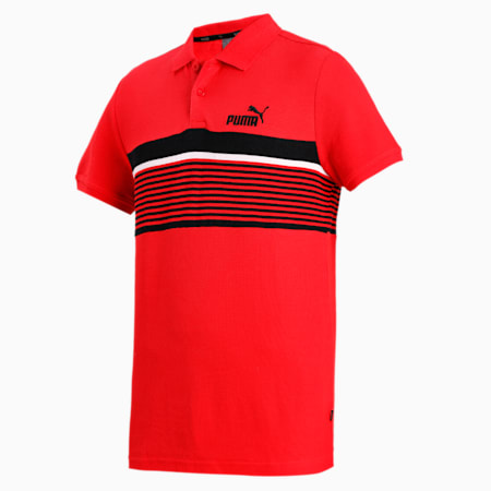ESS+ Stripe Men's Polo, High Risk Red, small-IND